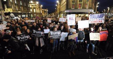 """""""جارديان"""": أعداد المشاركين فى مظاهرات لندن ضد """"ترامب"""" اليوم مفاجئة"""