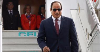 """السيسى لـ""""منتخب مصر"""" : فزتم بتقدير الشعب وأداؤكم فى البطولة كان مشرفًا"""