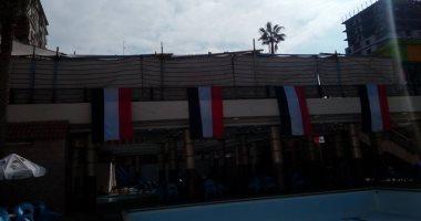 بالصور.. الأعلام تزين نادى بلدية المحلة قبل النهائى الأفريقى