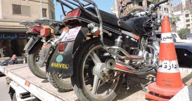 ضبط 816 مخالفة دراجات بخارية بدون لوحات بالمحافظات