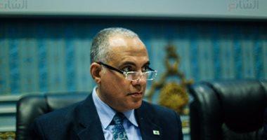 وزير الرى يضع حجر أساس حماية رأس غارب من السيول