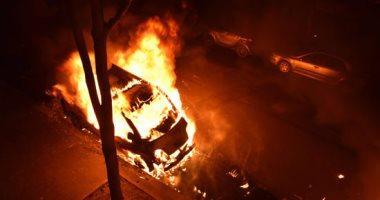 السيطرة على حريق هائل بسيارة محملة بمواد بترولية فى البحيرة
