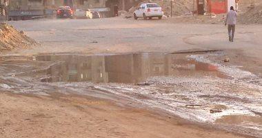 """استجابة لـ""""صحافة المواطن"""".. القابضة لمياه الشرب تصلح ماسورة فى المقطم"""