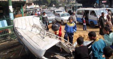 إصابة 8 أشخاص فى انقلاب سيارة بالمنيا
