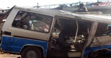 إصابة 3 أشخاص فى حادث تصادم سيارتين ملاكى ونقل بالطريق الإقليمى شبرا بنها