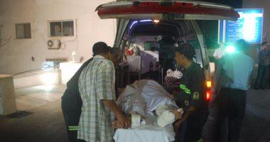 مصرع شخصين وإصابة 11 فى تصادم سيارتين بصحراوى بنى سويف الشرقى