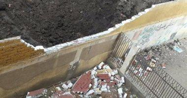 إصابة 6 تلاميذ سقط عليهم سور مدرسة نزلة اقفهص الابتدائية ببنى سويف