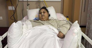 ننشر أول صورة لـ إيمان بعد إجراء جراحة تقليص المعدة وتنتظر فقدان 200 كيلو