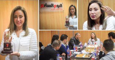 """الإعلامية ريهام سعيد تفتح خزائن أسرارها فى ندوة """"اليوم السابع"""""""