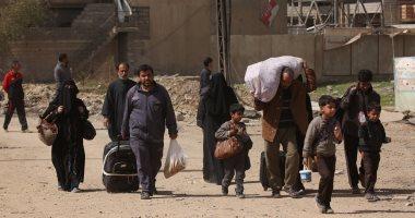البيشمركة تستقبل 3 آلاف مدنى هارب من  داعش  شمال غرب كركوك