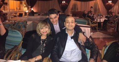 لميس الحديدى تنشر صورتها مع زوجها: الحمد لله عمرو أديب بخير
