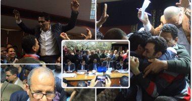 احتفالات فى نقابة الصحفيين بأعضاء المجلس الجدد