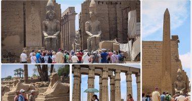 عودة السياحة إلى معابد الأقصر وفراعنة مصر يستقبلون الزوار