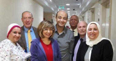 لميس الحديدى تنشر صورة مع عمرو أديب بعد تماثله للشفاء وتشكر الأطباء