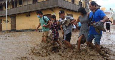 استمرار معاناة مواطنى بيرو بسبب أمطار مميتة تحولت إلى فيضانات عارمة