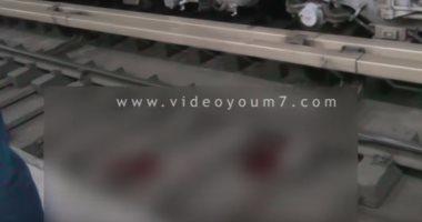 """بالفيديو..شاهد آثار مصرع الفتاة """"ملك"""" على قضبان مترو الدقى"""