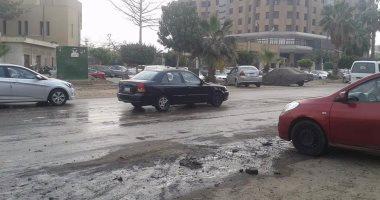 شكوى من انتشار مياه فى شارع حسن المأمون بمدينة نصر