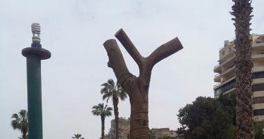 قارئ يشارك اليوم السابع بصور لقطع كل الأشجار المطلة على النيل بنقابة المهندسين
