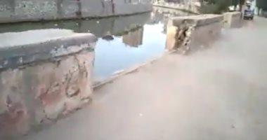 هدم سور كورنيش النيل أمام مدرسة النهضة فى الشرقية يهدد حياة الطلاب