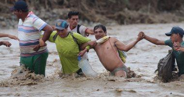 """فيضانات """"هوايكو"""" تدمر 134 ألف منزل وتشرد الآلاف فى بيرو"""