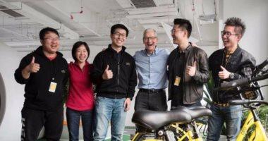 رئيس أبل يستكمل جولته بالصين بزيارة شركة ناشئة لمشاركة الدراجات