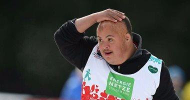 محمد عبده يفوز بفضية 200 متر جرى على الجليد فى الأولمبياد الخاص بالنمسا
