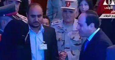الرئيس السيسى يكرم عدداً من أسر الشهداء بالندوة التثقيفية للقوات المسلحة