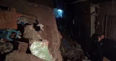 مصرع عامل وإصابة ربة منزل فى انهيار منزل بمركز أبنوب أسيوط