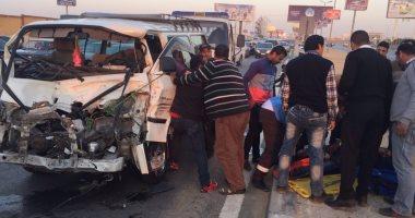 مصرع سيدة وإصابة 7 من أسرة واحدة فى حادث تصادم بطريق وادى القمر بالإسكندرية