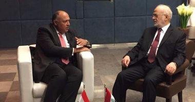وزير الخارجية يؤكد حرص مصر على وحدة العراق إزاء التهديدات الإرهابية