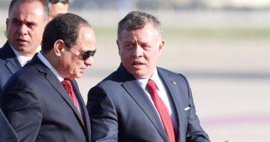 ملك الأردن والرئيس السيسي