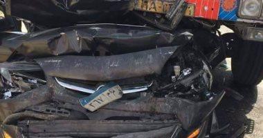 زحام مرورى فى مدينة نصر بسبب حادث تصادم سيارتين