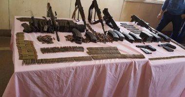 مباحث سوهاج تضبط 13 قطعة سلاح آلى وخرطوش في حملات