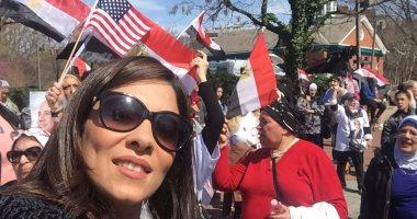 بالفيديو والصور.. الجالية المصرية بأمريكا ترحب بزيارة الرئيس السيسى لواشنطن