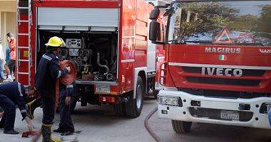 صورة السيطرة على حريق بمصنع مراتب في قليوب دون خسائر بالأرواح