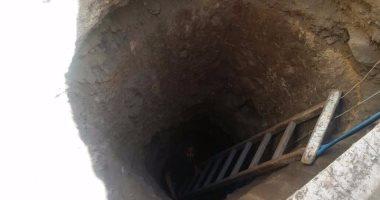 مصرع عامل سقط فى حفرة عمقها 21 متراً للتنقيب عن الآثار بحدائق أكتوبر