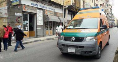 إصابة 3 أشخاص إثر حادث انقلاب سيارة نقل فى منطقة المرج