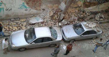 """قارئ يشارك بصور لانهيار سور مدرسة """"النيل الثانوية بنين"""" بالإسكندرية"""