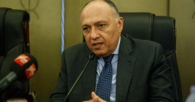 سامح شكرى يشكر وزير خارجية اليونان على رعاية بلاده للمصالح المصرية فى قطر