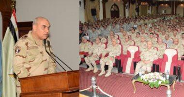 بالصور.. وزير الدفاع يلتقى قادة وضباط المنطقة المركزية العسكرية