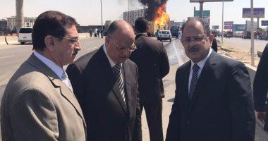 بالصور.. مصرع شخص وإصابة 5 آخرين فى انفجار خط الغاز بشارع التسعين بالتجمع الخامس