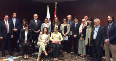 شريف سامى يستعرض التعديلات التشريعية مع المؤسسات الدولية