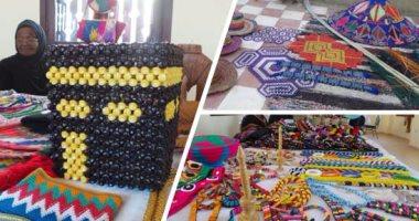 b14d837d4 بالصور.. إبداع المرأة النوبية فى صناعة المشغولات اليدوية..