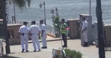 بالفيديو.. جولات مدراء الأمن بالشوارع أثناء احتفالات بشم النسيم