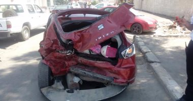 إصابة 5 أشخاص خلال حادث تصادم بالقليوبية