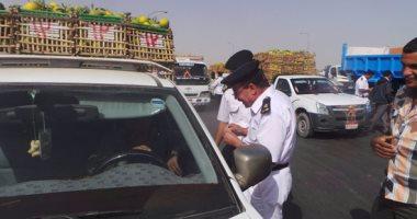 ضبط 6580 مخالفة مرورية بمحاور وميادين الجيزة خلال 24 ساعة