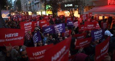 استمرار الاحتجاجات فى تركيا ضد صلاحيات أردوغان المطلقة بعد الاستفتاء