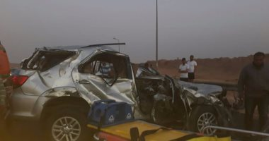 الصحة: وفاة مواطن وإصابة 16 آخرين فى حادث تصادم سيارتين بالإسماعيلية
