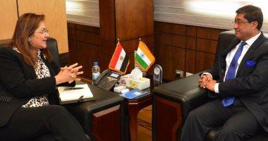 وزيرة التخطيط تبحث التجربة الهندية فى خلق برامج تشغيل بالمناطق الأقل دخلاً