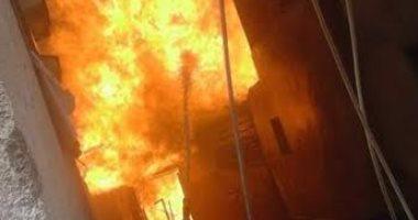 اندلاع حريق هائل بمخزن أخشاب بمدينة القرين فى الشرقية